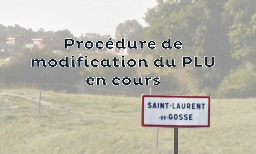 PLU de Saint-Laurent-de-Gosse - Modification n°1 - Avis d'enquête publique
