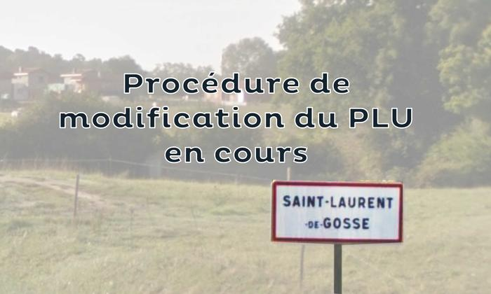 PLU de Saint-Laurent-de-Gosse - Modification n°1 - Enquête publique